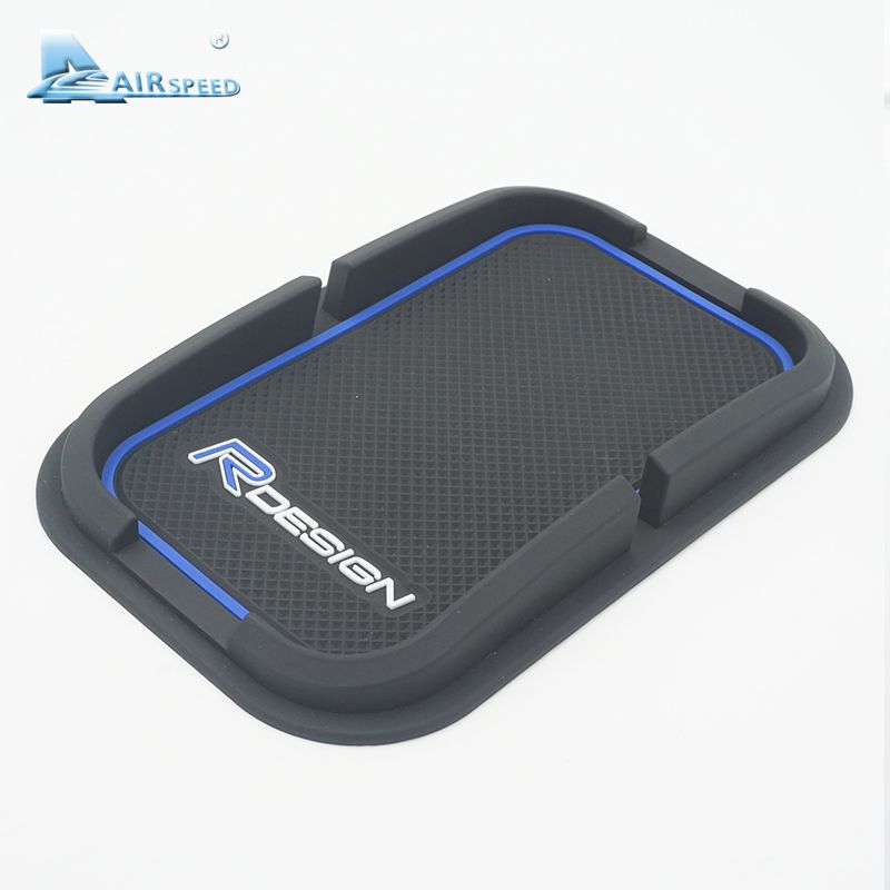 Airspeed RDESIGN R-DESIGN Phone Holder GPS Silicone Anti-slip Mat Pad for Volvo XC60 XC90 S60 S80 V70 V60 S40 C30 70 Car-styling