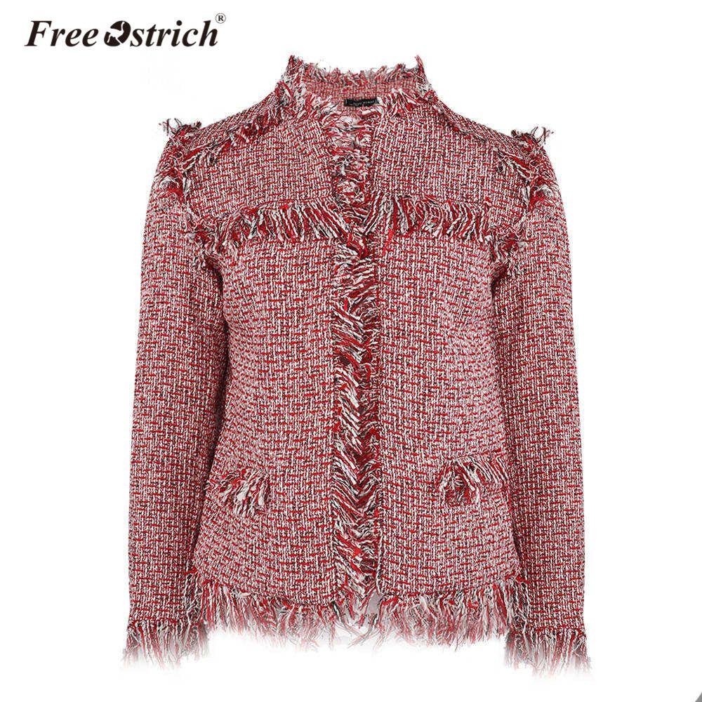 Free Ostrich Winter Jacket Women 2018 Fashoin Coat Bomber Casaco Feminino Patchwork Long Sleeve O Neck Chaqueta Mujer D40