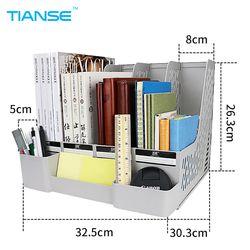 TIANSE gris bleu document plateaux fichier titulaire avec petit cas en plastique fichier organisateur pour le stockage de bureau bureau suppiles classer