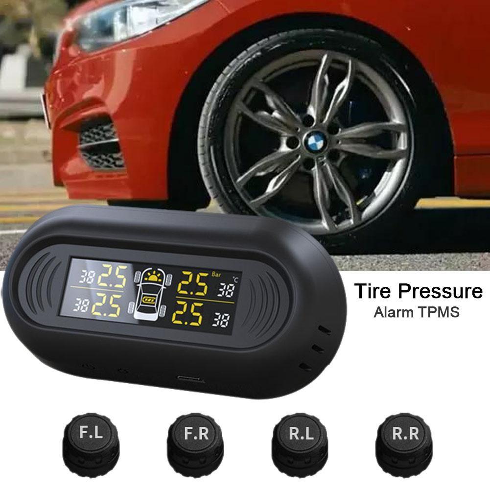 CR1632 Mini Windshield Wireless Digital Gauge Car TPMS Solar Power 0-101PSI Tire Pressure Monitoring System
