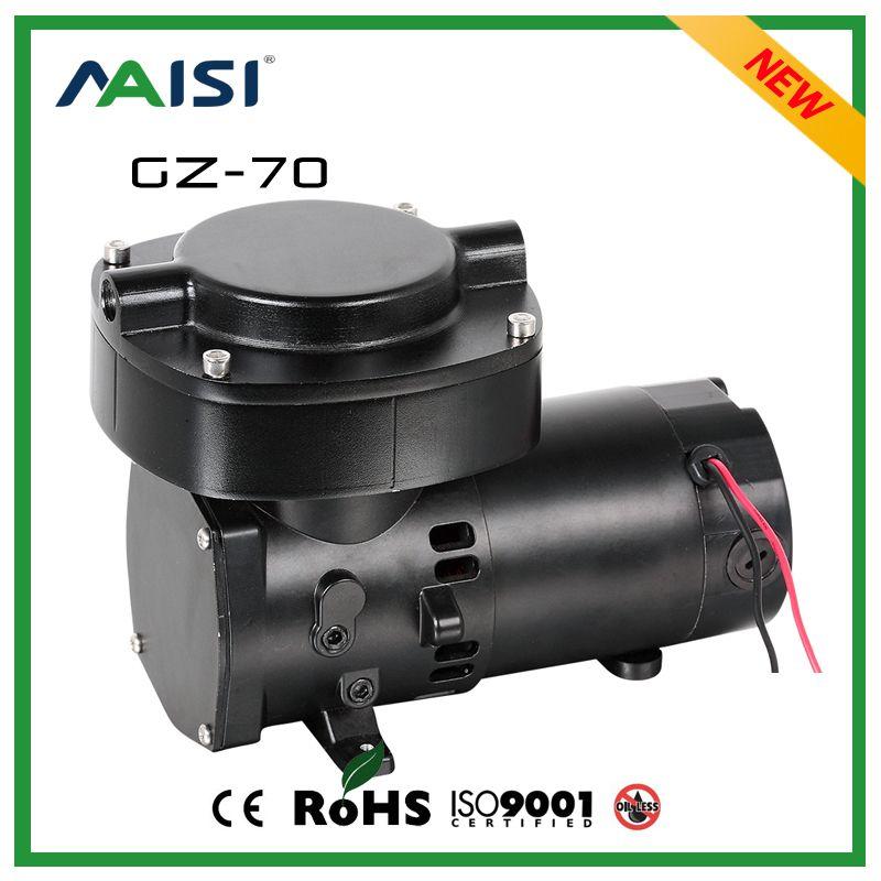 GZ-70 12V DC 68L 100W Mini Diaphragm Vacuum Pump For Diving System 24V ultimate vacuum pump 220V air compressor Pump