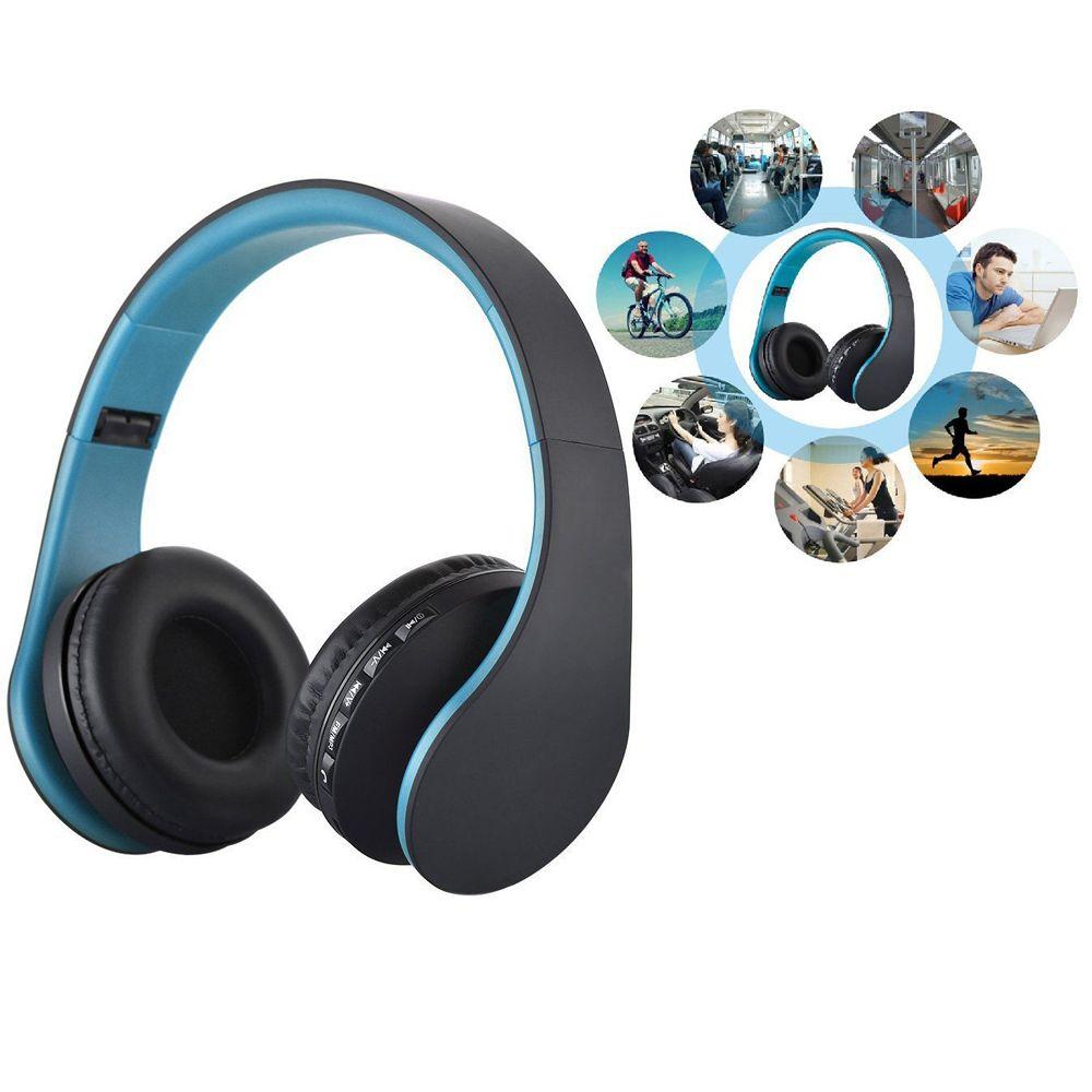 Sans fil Casque Stéréo Mains Libres Headfone Casque Bluetooth Casque Écouteur Sans Fil pour Ordinateur PC Aux Chef Téléphone chaude