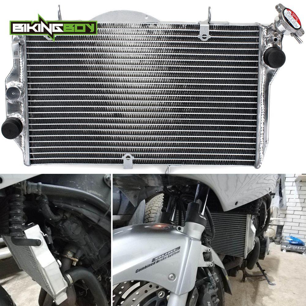 BIKINGBOY Aluminium Core Motor Kühler Kühlung Kühler für HONDA CBR1100XX CBR 1100 XX Schwarz Vogel 1999-2005 2000 2001 02 03 04