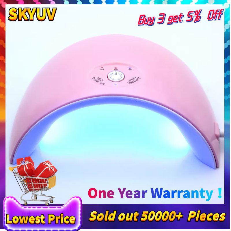 Date 36 w Led UV Lampe 12 pcs LED Nail Sèche-pour TOUS LES Ongles Gel Polonais Manucure Avec Minuterie bouton capteur Nail Art Outils