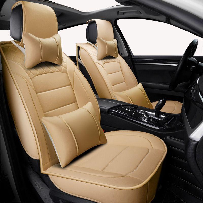 (Vorne + Hinten) universal leder auto sitz abdeckungen Für Audi alle modelle a3 a8 a4 b7 b8 b9 q7 q5 a6 c7 a5 q3 auto styling zubehör