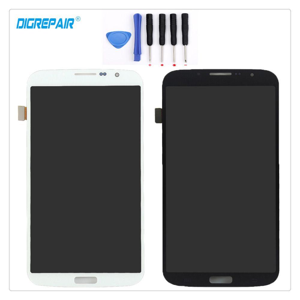 100% Nouveau Noir/Blanc Pour Samsung Galaxy Mega 6.3 i9200 i9205 Écran lcd Écran Tactile Digitizer Assemblée Pièces De Rechange + outils