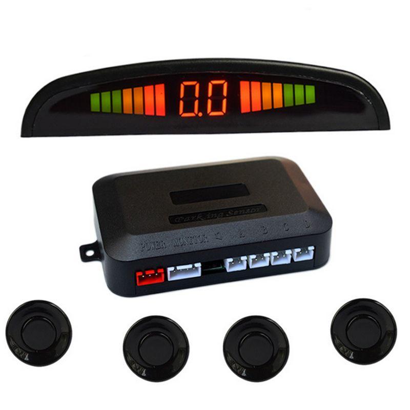 Universal Car Reverse Assistance Backup Radar LED Display Automobile Parking Monitor Detector System With 4 Sensors CSL2017