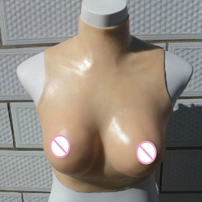 Shemale Silicone Breast Artificial Boobs Crossdresser Silicone Breast Forms Drag Queen Fake Breast Boobs Transgender F Cup