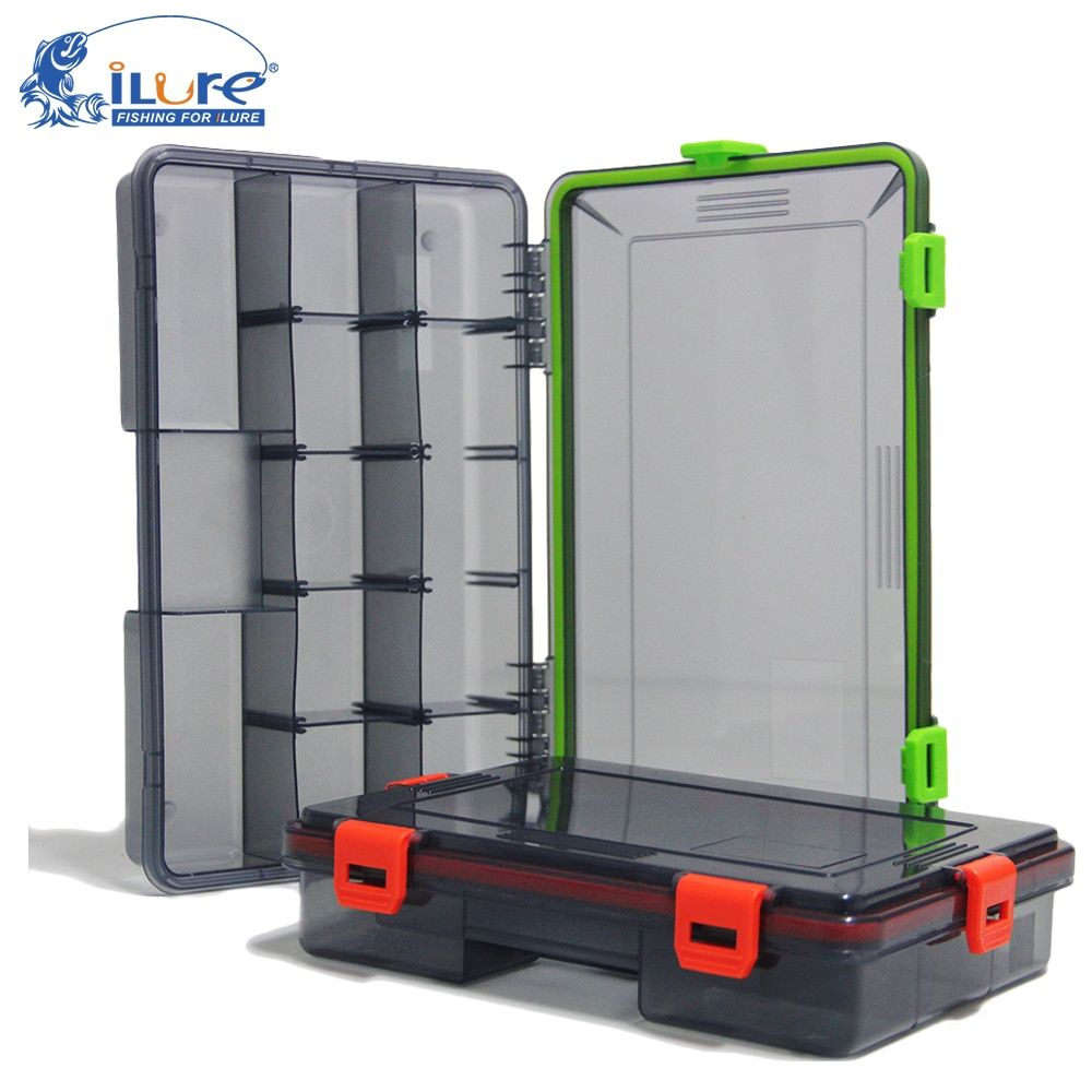 iLure 2017 New Fishing Tackle Boxes 2 colors Fishing Accessories Case Fish Lure Bait Hooks Tackle Tool with Compartments pesca