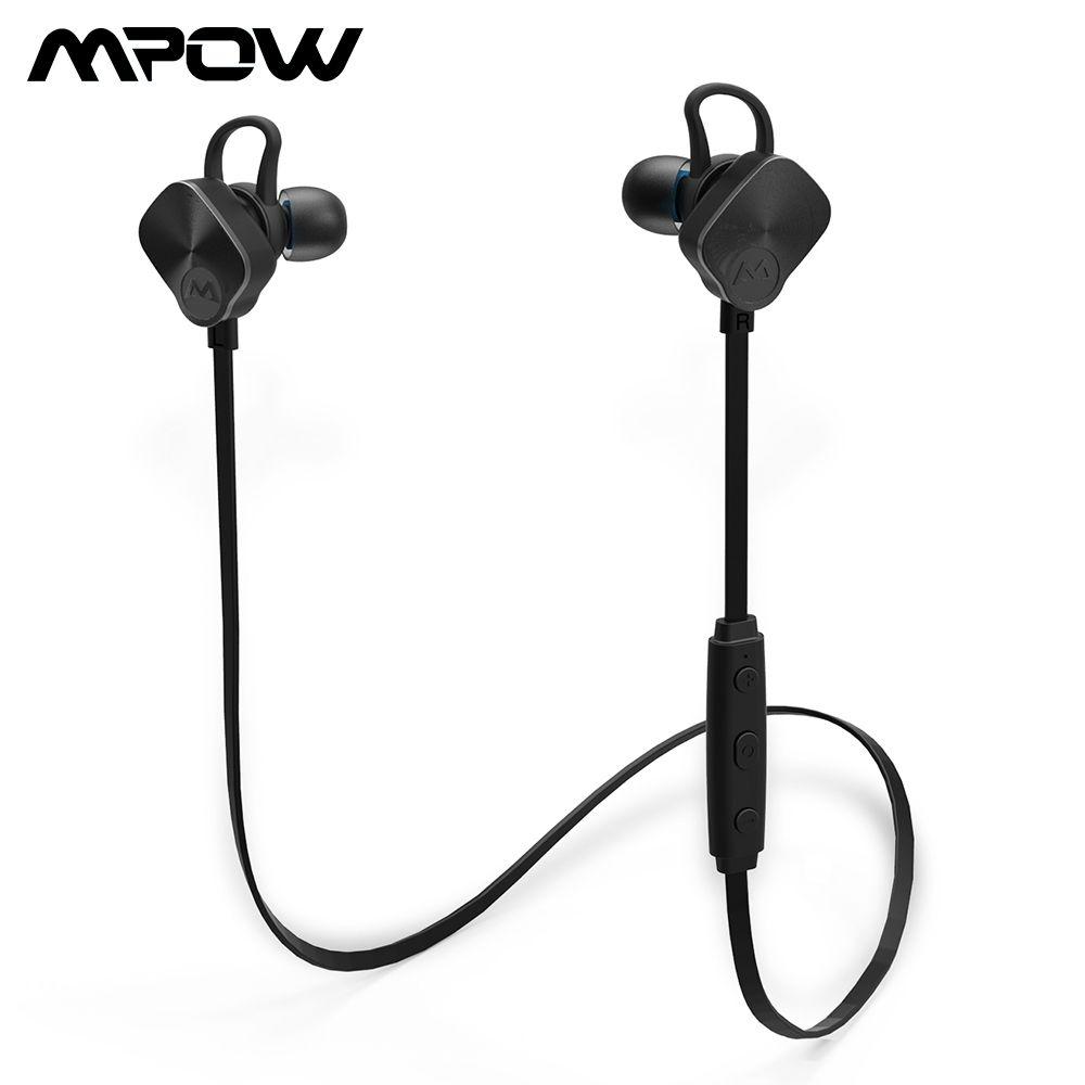 Mpow Mise À Jour Version MBH29 Bluetooth 4.1 Casque Sans Fil IPX7 Étanche Sport Casque Stéréo Casque Antibruit