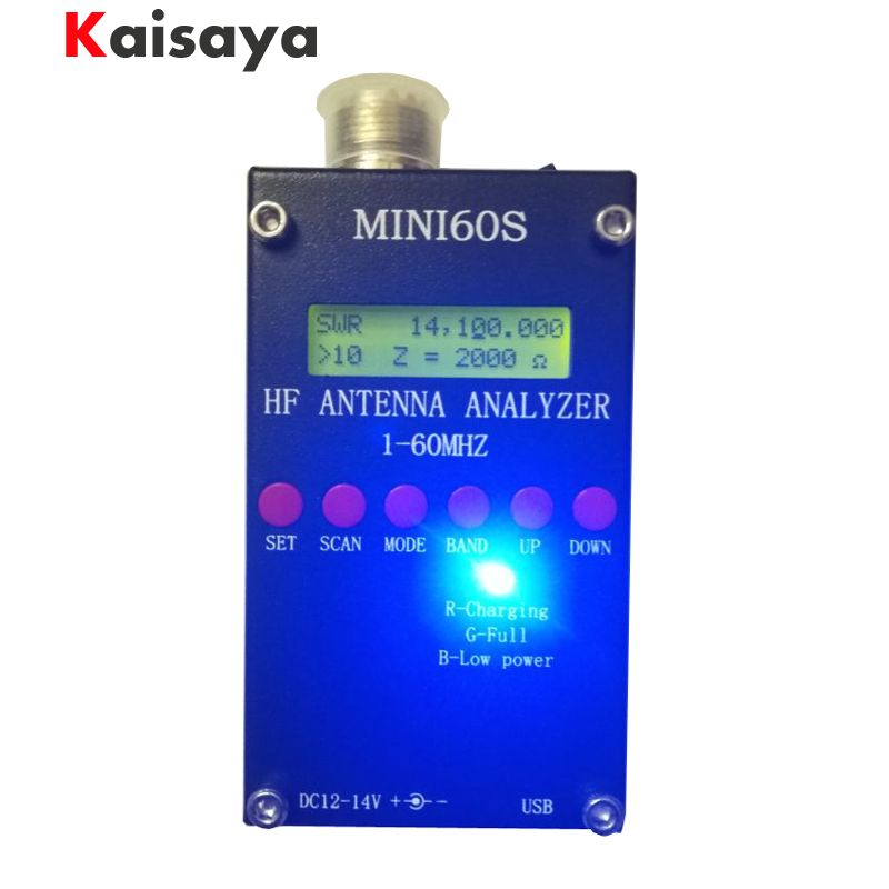 new Bluetooth Android verison MINI60S update for MINI60 1 - 60 Mhz HF ANT SWR Antenna Analyzer Meter C4-006
