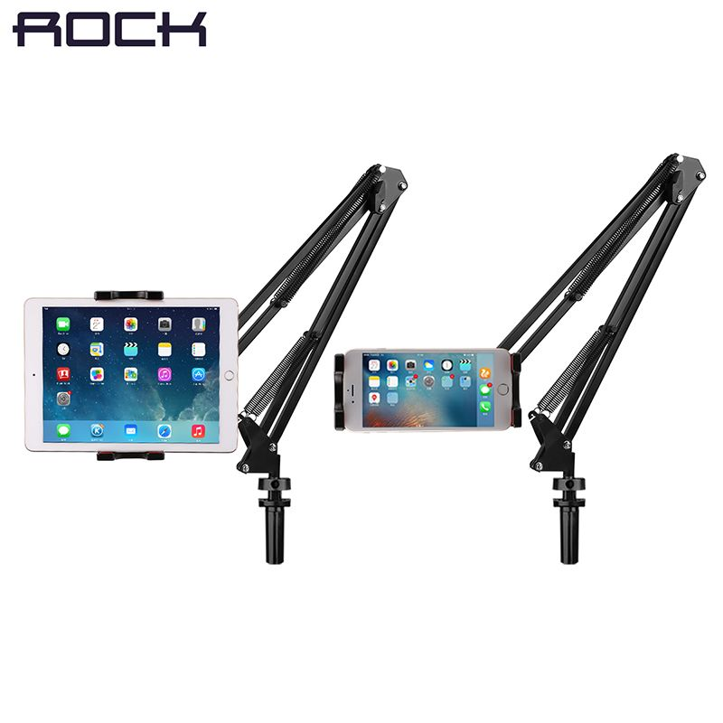 ROCK Universal Mechanical Stand Holder for iPad/ Tablet 360 Rotating Foldable Adjustable Tablet Mobile Phone Holder for iPhone