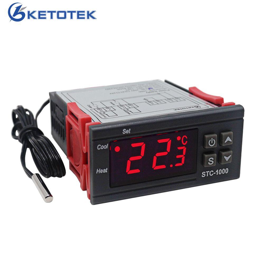 Régulateur de température numérique Thermostat thermorégulateur pour incubateur relais LED 10A chauffage STC-1000 de refroidissement 12 V 24 V 220 V