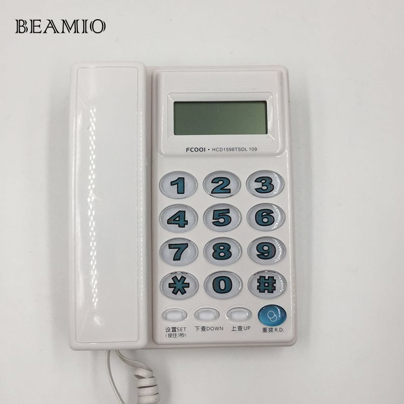 High Quality Fashion Big Button Caller ID Telephone Fixed Landline Without Battery For Home Office Telephone For Old People