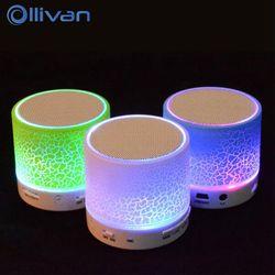 Ollivan A9 LED Bluetooth Haut-Parleur Mini Haut-parleurs Mains Libres Portable Sans Fil Haut-Parleur Avec TF Carte Micro USB Audio Lecteur de Musique