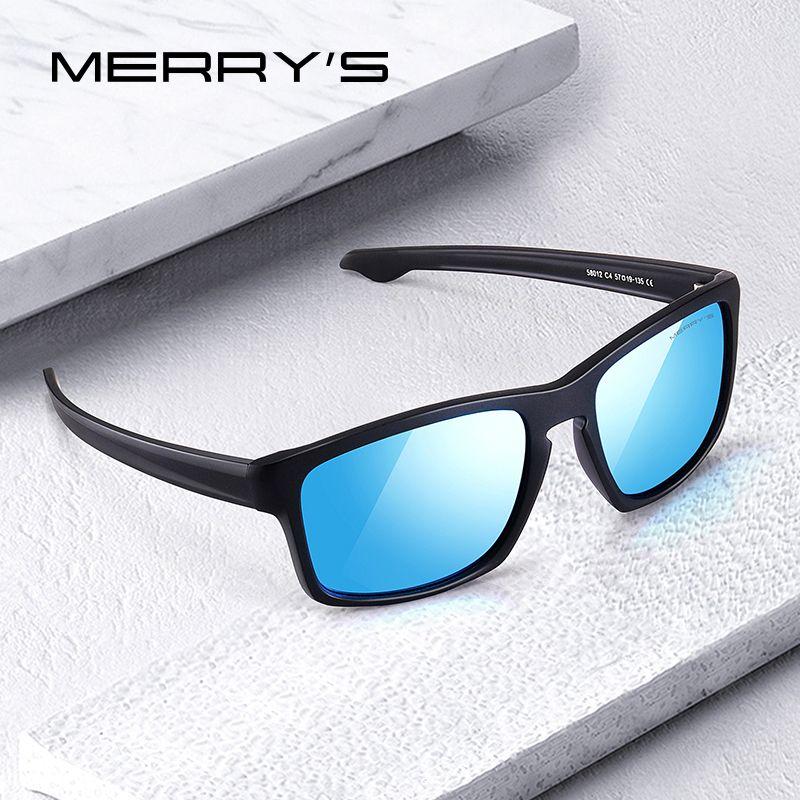 MERRYS DESIGN hommes classique lunettes de soleil polarisées homme Sport pêche nuances Spuare miroir lunettes Protection UV400 S3012
