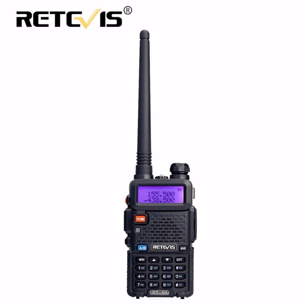 Retevis RT-5R Walkie Talkie 5W VHF UHF Dual Band Hf Transceiver VOX FM Amateur Portable cb Ham Radio Station Walkie-Talkie RT5R