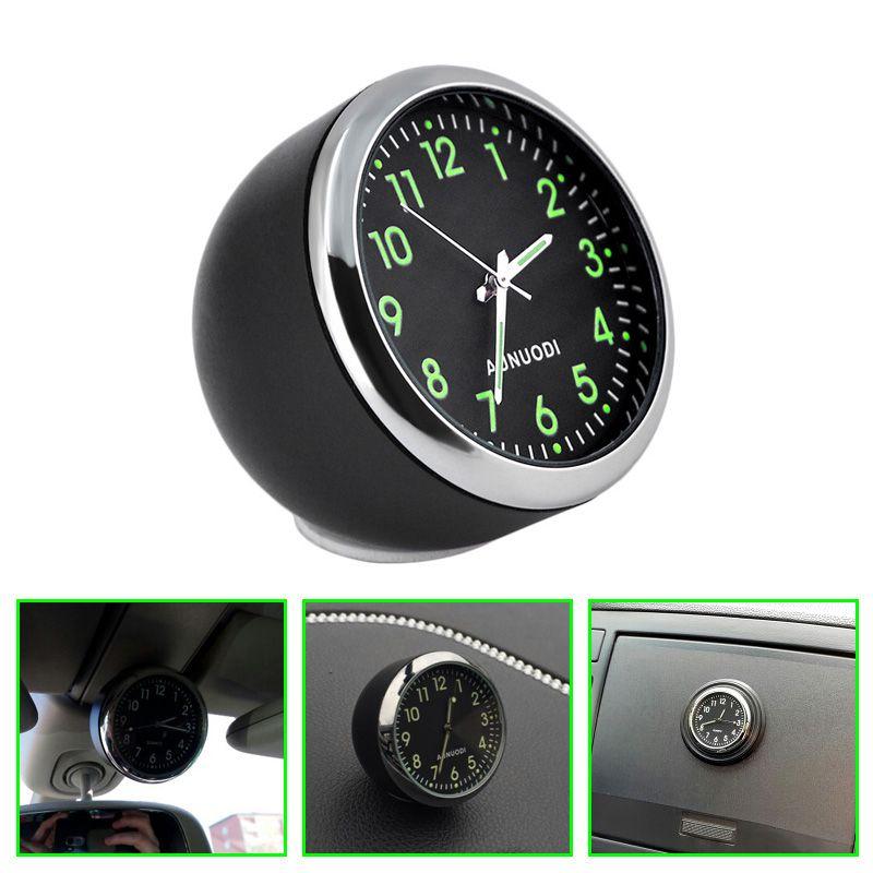 New Fashion Car Mechanics Quartz Clock for car Mini Noctilucent digital car clock Pointer clock in car styling via free shipping