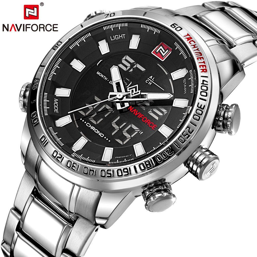 NAVIFORCE Hommes Quartz Analogique Montre De Luxe De Mode Montre-Bracelet Étanche Sport Inoxydable Mâle Montres Horloge Relogio Masculino