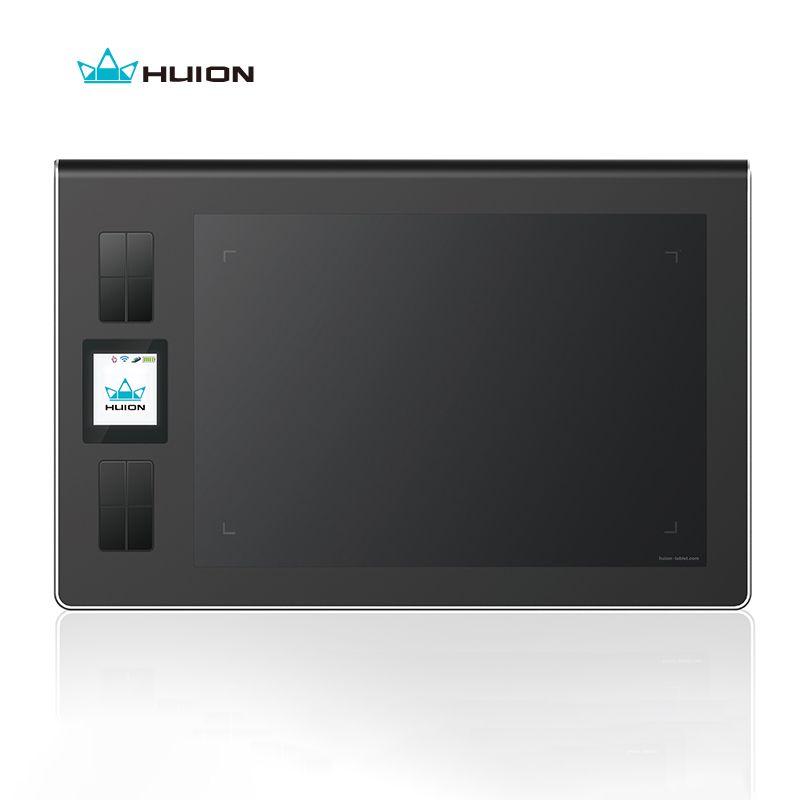Huion Genuine Wireless Lcd Screen Graphics Drawing Tablets Art Signature Tablet Kids Pen Board Pad Grafica Tableta Black DWH69