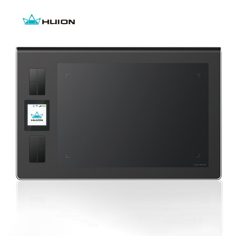Huion Genuine Wireless Lcd Screen Graphics <font><b>Drawing</b></font> Tablets Art Signature Tablet Kids Pen Board Pad Grafica Tableta Black DWH69