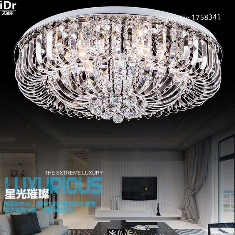 Bedroom modern led crystal ceiling lights living room lamp bedroom lamp lighting  Bedroom lamp Hall Luxury lamp Dia800xW280mm