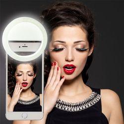 2017 Universal LED Photography Flash Light Up Selfie Luminous Lamp Night Phone Ring For iPhone SE 5 6 6S Plus LG Samsung HTC LG