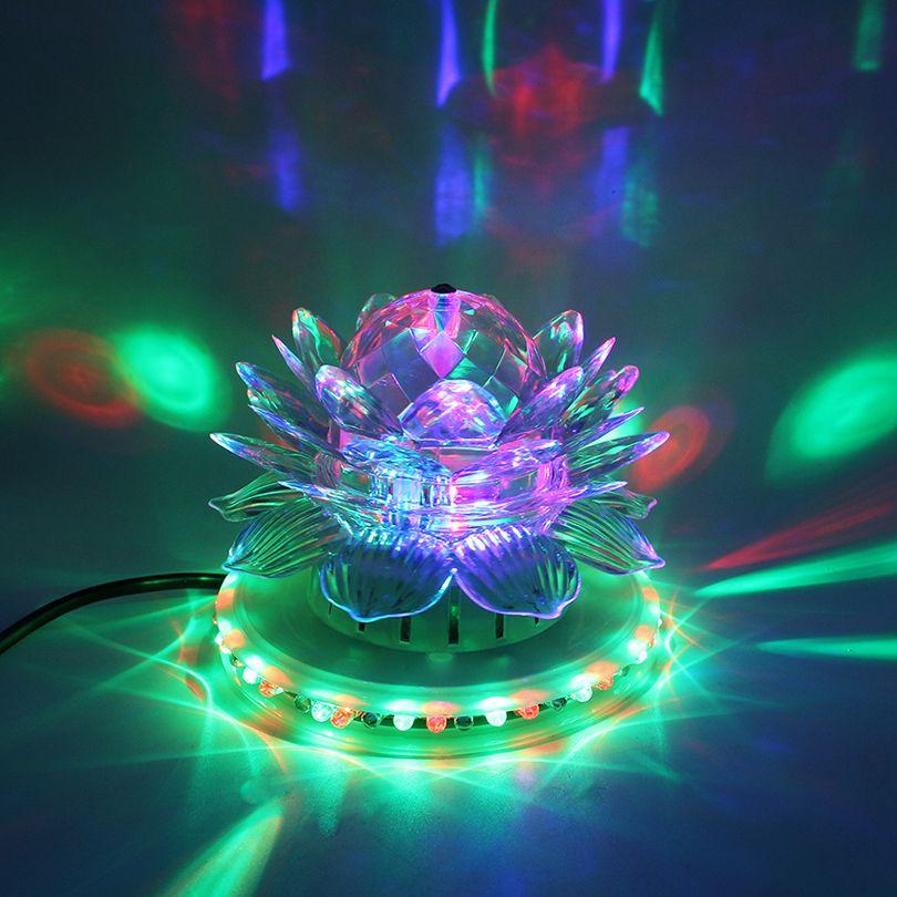 RGB Led Bühne Licht Auto Rotierenden Discokugel Lampe Wirkung Magie Party Club Lichter Für Weihnachten Home KTV Weihnachten Hochzeit Zeigen Pub