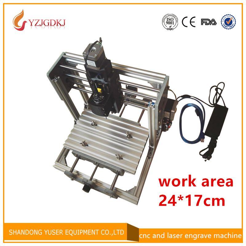 CNC 2417 grbl управления DIY высокой мощности лазерная гравировка с ЧПУ, 3 оси печатных плат фрезерный станок, деревообрабатывающие фрезерные стан...
