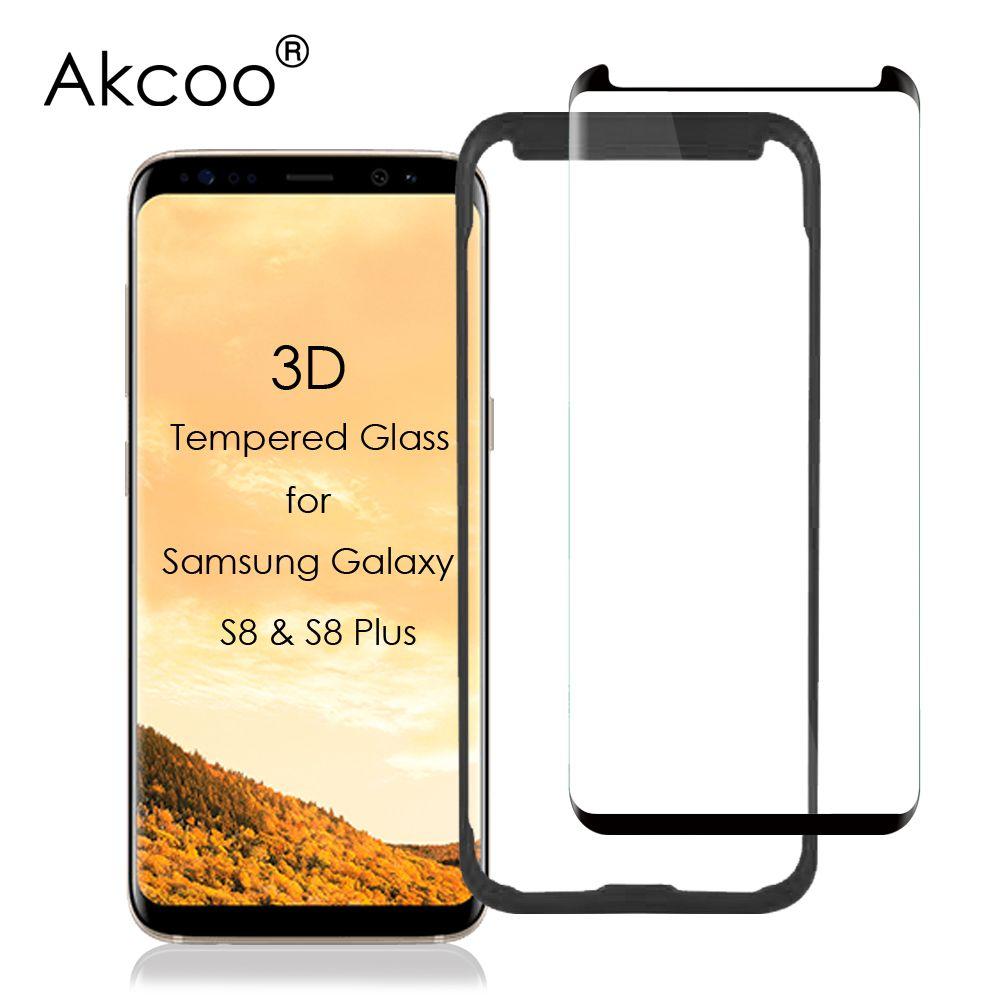 Akcoo Prime S8 Écran Protecteur pour Samsung S8plus 3D Courbe Tempere Verre Écran Film Cas Friendly Version Livraison Installer Plateau