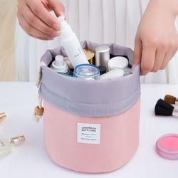 Ne Manquez Pas Drop ship cordon en forme de tonneau femmes cosmétique Sac Haute qualité maquillage organisateur sacs de stockage de Voyage trousse de toilette