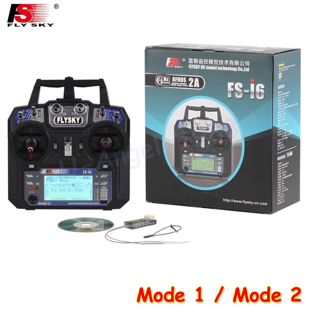 Flysky FS-i6 FS I6 2.4G 6ch RC Transmitter Controller FS-iA6 or IA6B Receiver For RC Helicopter Plane Quadcopter Mode 1 Mode 2