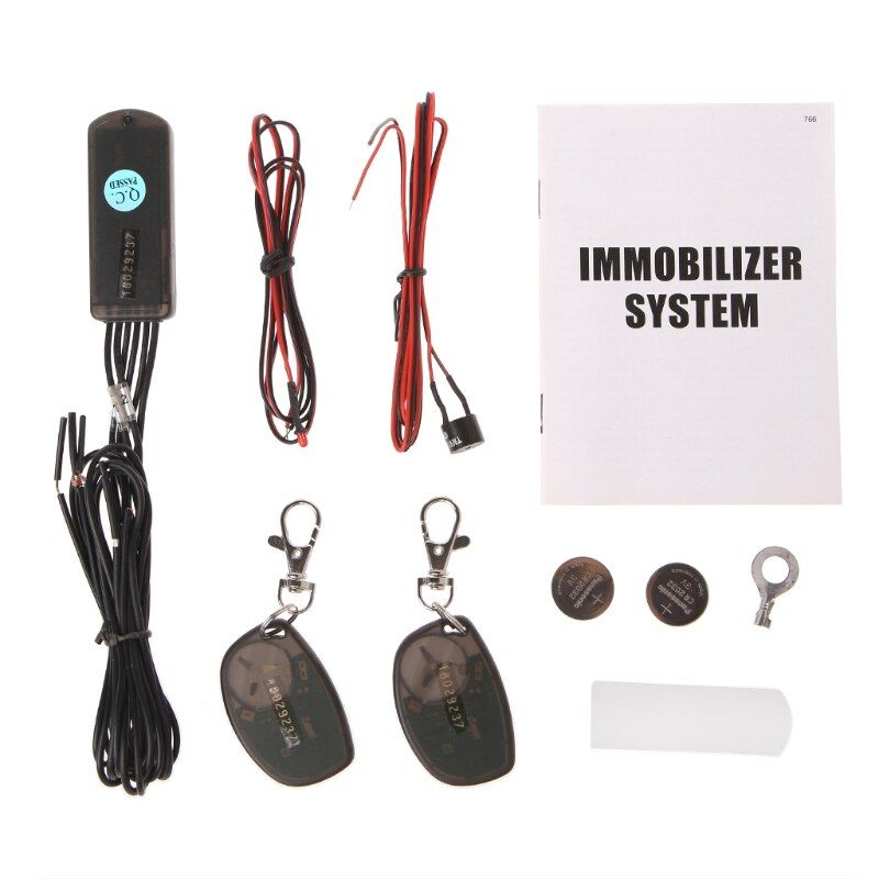 RFID 2.4GHz wireless car immobilizer system engine lock anti-hijacking intelligent circuit cut off with G-sensor(accelerometer)