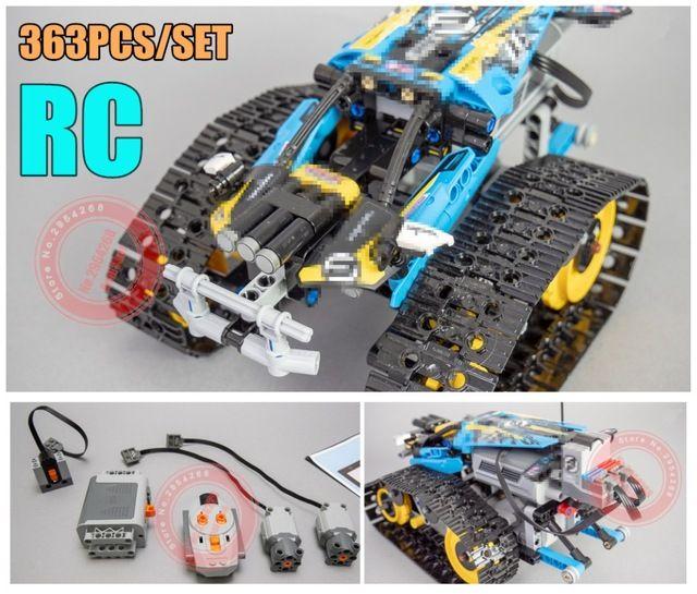 Moteur puissance fonction RC chenillé RACER voiture électrique fit legoings technic voiture 42065 vitesse voiture bloc de construction briques modèle enfant cadeau