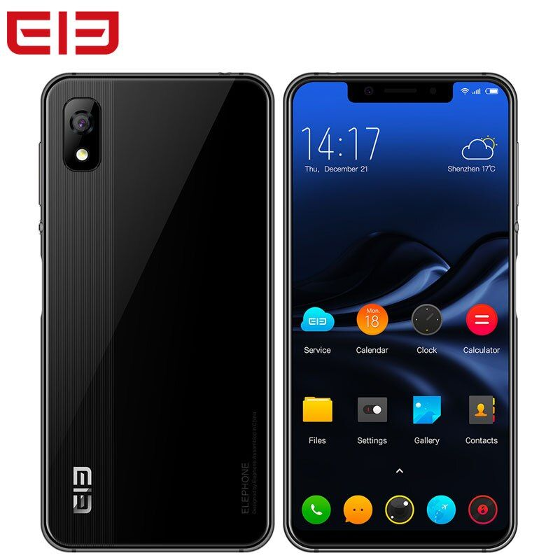 Elephone A4 Smartphone Face ID 3GB RAM 16GB ROM Android 8.1 5.85 Inch 18:9 MTK6739 Dual SIM 1440x720 Fingerprint 4G Cell Phone