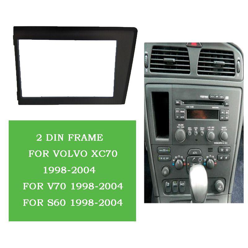 ITYAGUY 2Din Car Radio Fascia for 1998 1999 2000 2001 2002-2004 Volvo XC70 V70 S60 Stereo Plate Trim Kit Frame Panel Dash CD