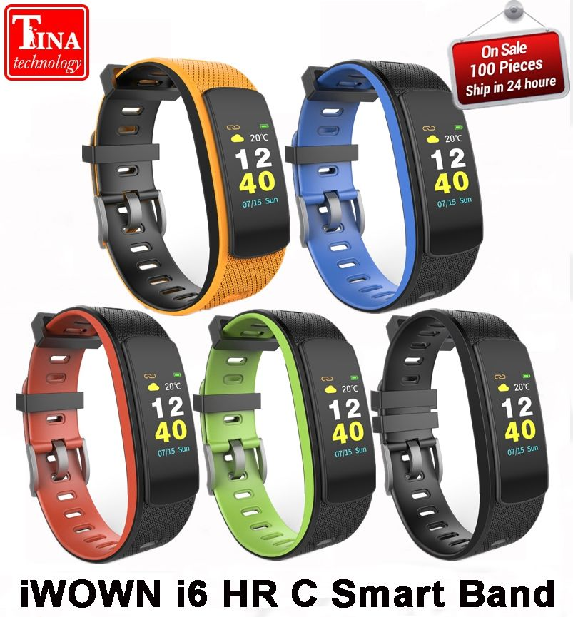 IWOWN I6 HR C Smart band Color Screen Heart Rate Monitor Smart bracelet Sport Smart Wristband Fitness Tracker VS Mi Band 1S