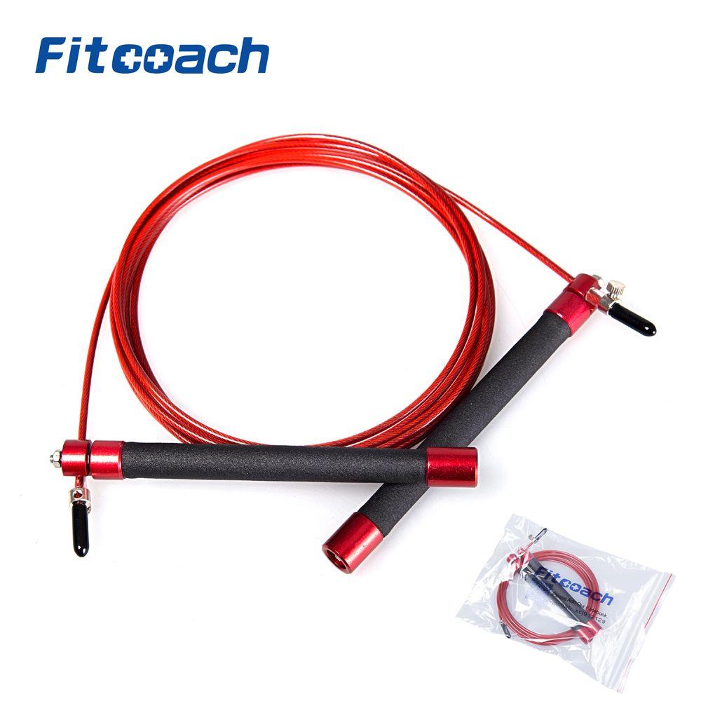 Corde à sauter professionnelle de vitesse d'athlétisme de UIC-JR06 avec la poignée en métal de roulement à billes pour la femme, équipement de forme physique de Crossfit