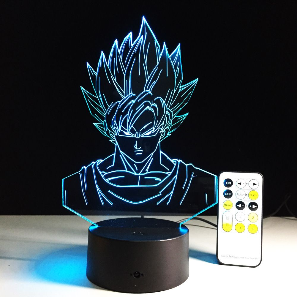 Sept dragon ball coloré Vision Stéréo LED lampe 3D lampe lumière gradient coloré acrylique lampe à distance control night light vision