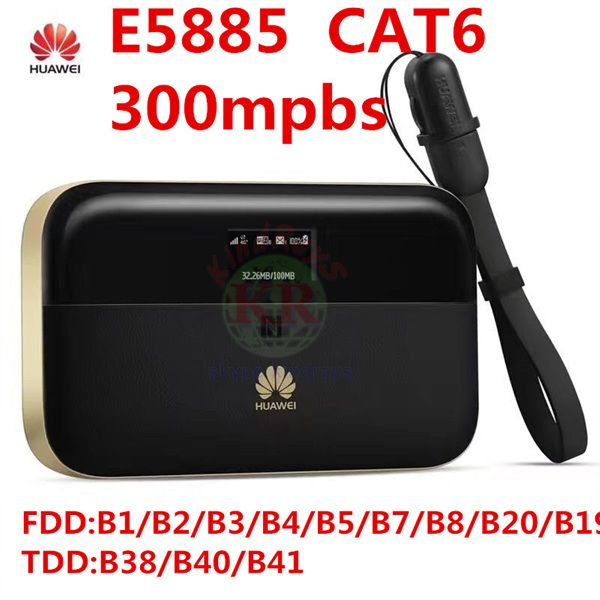 unlocked Huawei E5885 300mbps cat6 4g wifi router 4g mifi dongle rj45 usb port battery 6400mAh Mobile WiFi PRO 2 pk R5786 e5771