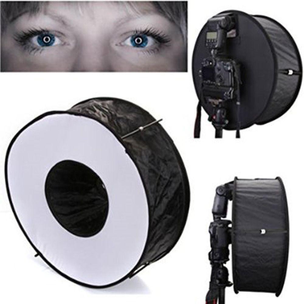 45 cm 18 facile à plier anneau Speedlite Flash Softbox diffuseur réflecteur pour Canon Nikon Godox Macro Shoot Portrait photographie