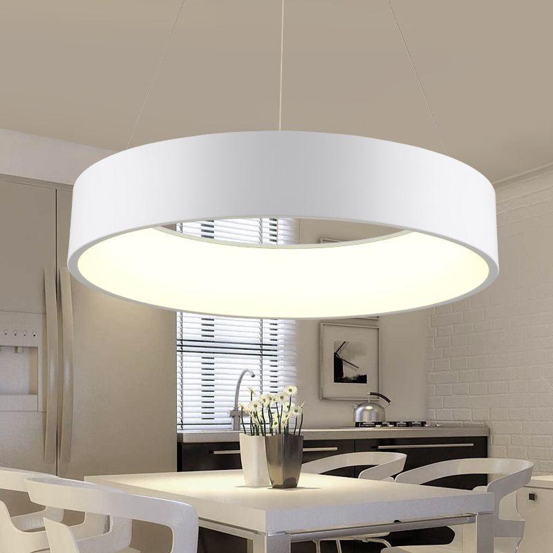 Minimalistischen Hängen Runde Lampe Moderne Kreis Led Pendelleuchte Ring Pendelleuchte Für Küche Insel Wohnzimmer Esszimmer