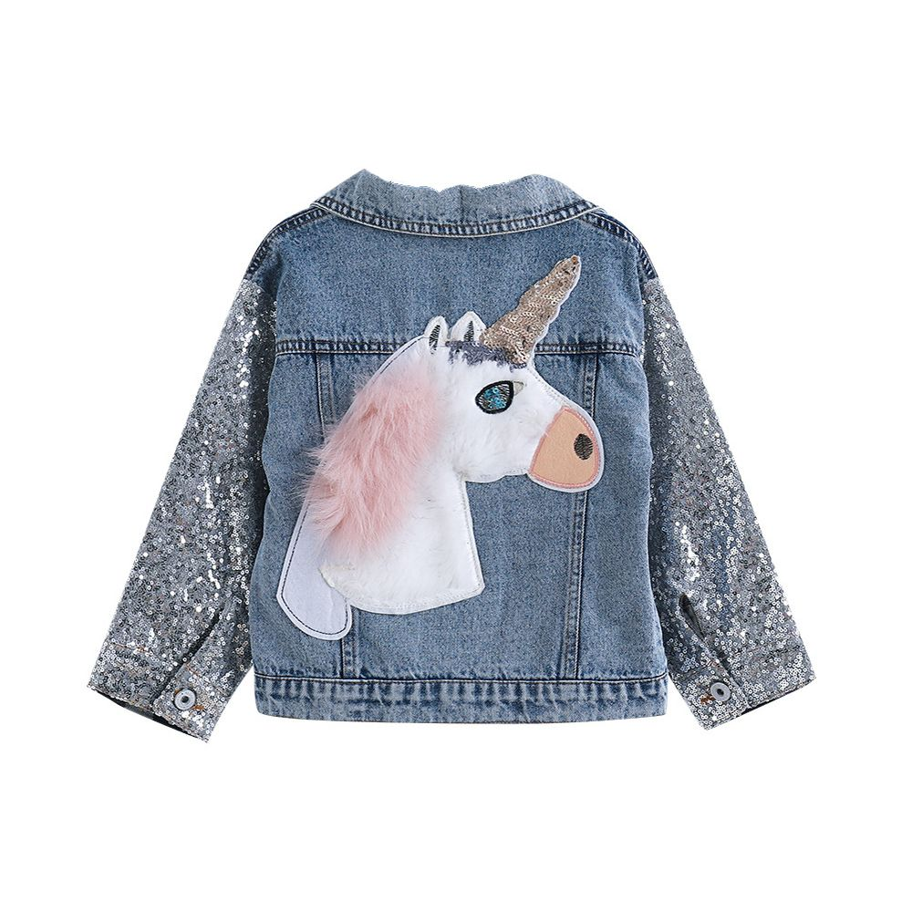 Licorne Denim veste pour filles manteaux enfants vêtements automne bébé filles vêtements survêtement Jean vestes et manteaux pour enfant filles