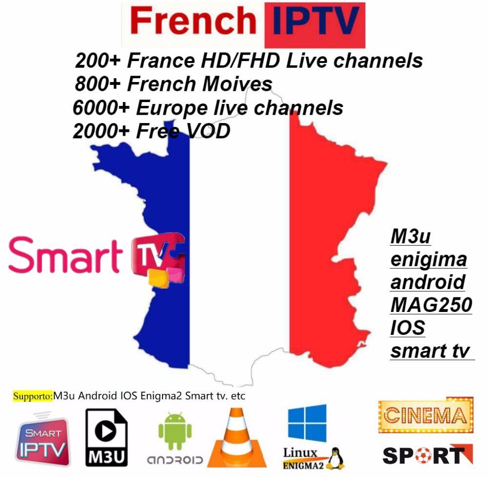 6/12 mois 6000 + Live M3U ENIGAM2 Andriod IPTV italie allemand français espagne TR UK italie Holandes Belgica adulte hotxxx football