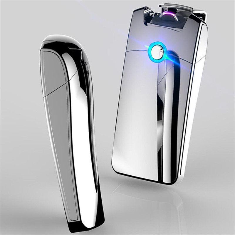 Primo charge Usb Briquet USB coupe-vent personnalité électronique briquets Nouveauté Fumée Électrique allume-cigare