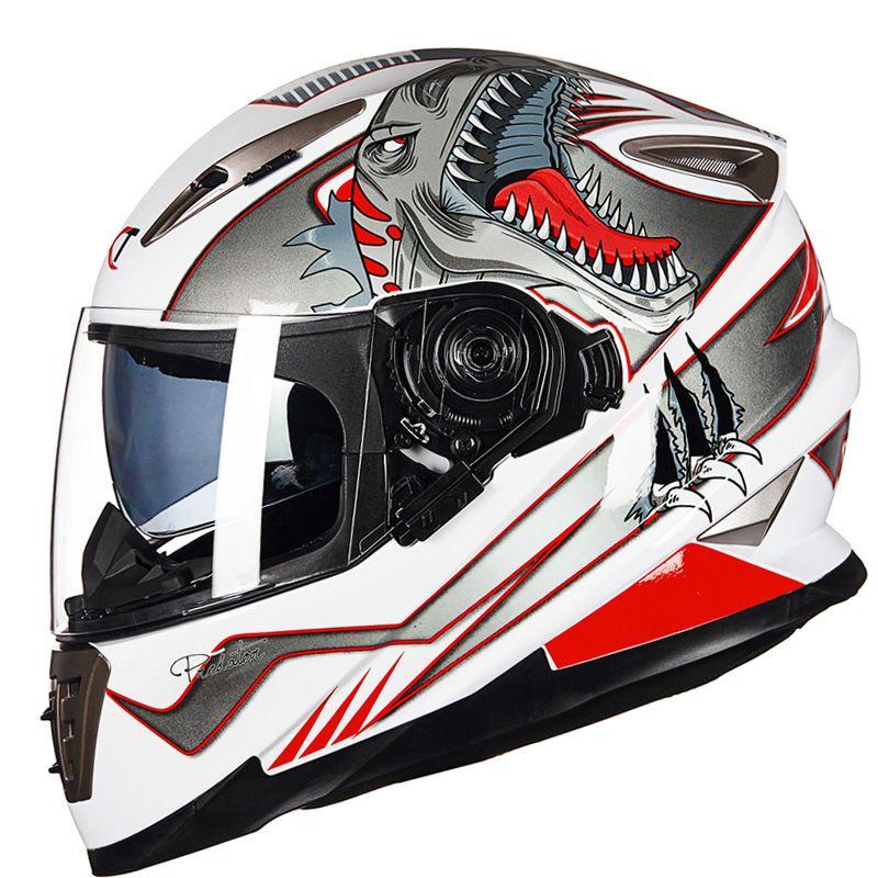 New GXT SKULL Moto helmet winter Double visor Men motorcycle full face helmets motorbike M L XL size Racing helmet