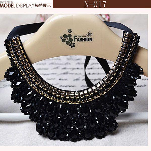 2017 nueva moda collar de la joyería del grano collar falso populares choker accesorios colgantes para collares de la joyería para los amantes de la moda