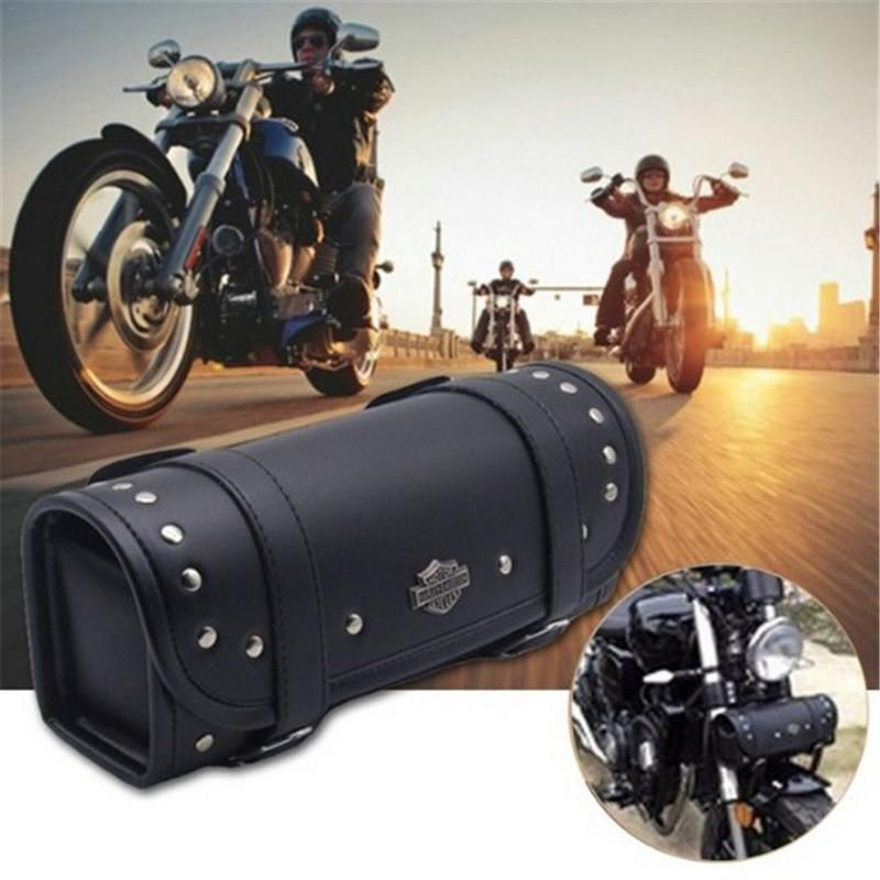 Motorcycle Hang Bag Waterproof PU Leather For Harley Electric Car Cruise Prince Modified Motorcycle Bag Head Package Holder