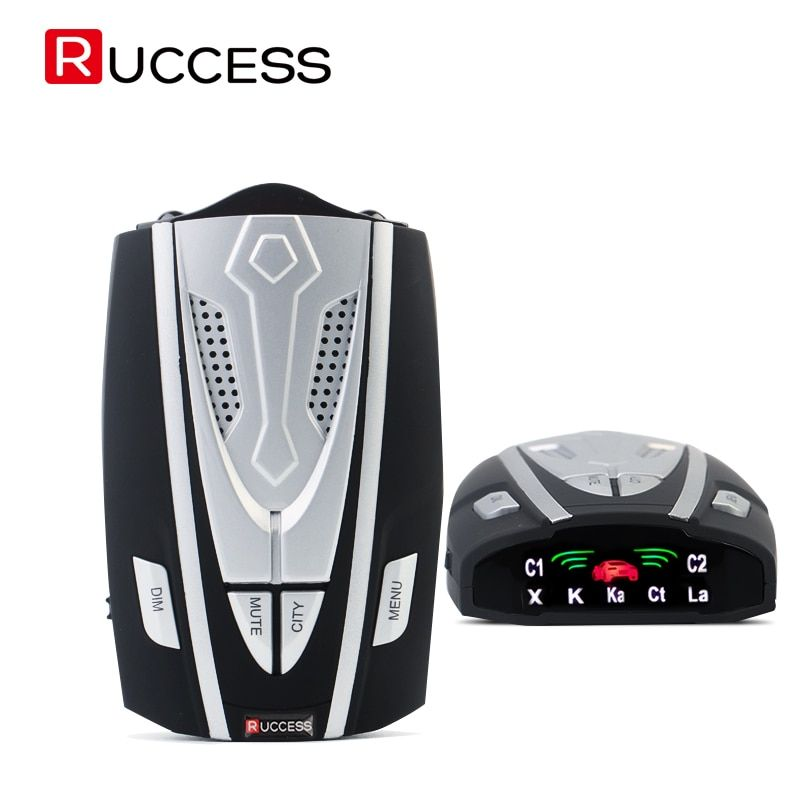 RUCCESS Car Radar Detector Russian Car-detector Fixed & Flow Velocity Anti-police Radar Signal Detection X/K/Ka/Laser/Strelka CT