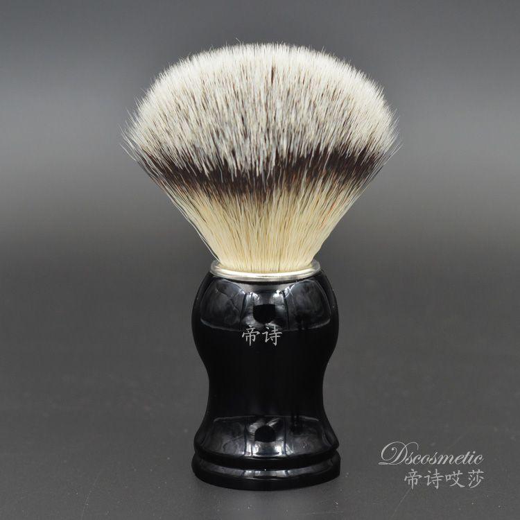 Synthétique cheveux fabriqués à la main blaireau pour rasage barber outil pinceau fabricants